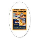 Foods from Corn Oval Sticker