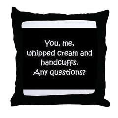 You, me, and whipped cream Throw Pillow