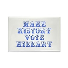 Make History Vote Hillary-Max blue 400 Magnets