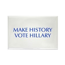 Make History Vote Hillary-Opt blue 550 Magnets