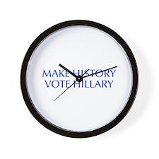 Make History Vote Hillary-Opt blue 550 Wall Clock