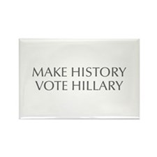 Make History Vote Hillary-Opt gray 550 Magnets