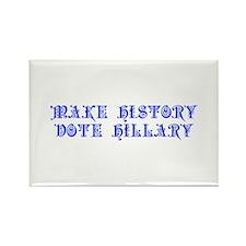 Make History Vote Hillary-Pre blue 550 Magnets