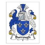 Burrough Family Crest Small Poster