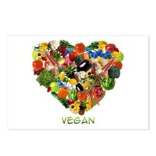 I Love Vegan Postcards (Package of 8)