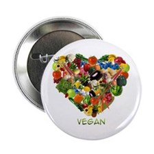 I Love Vegan Button