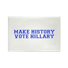 Make History Vote Hillary-Var blue 500 Magnets