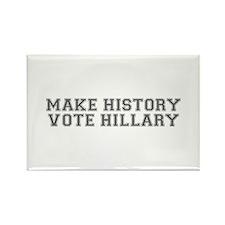 Make History Vote Hillary-Var gray 500 Magnets
