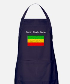 Ethiopia Flag (Distressed) Apron (dark)