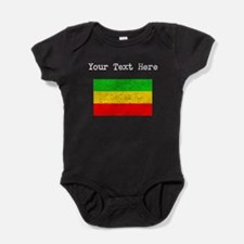 Ethiopia Flag (Distressed) Baby Bodysuit
