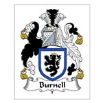 Burnell Family Crest Small Poster