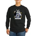 Burnell Family Crest Long Sleeve Dark T-Shirt
