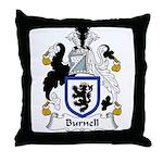 Burnell Family Crest Throw Pillow
