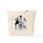 Burnell Family Crest Tote Bag