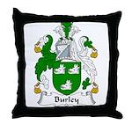 Burley Family Crest Throw Pillow