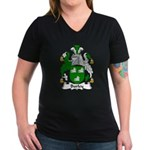 Burley Family Crest Women's V-Neck Dark T-Shirt