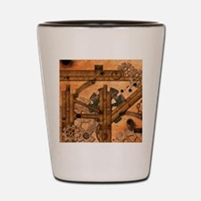 Rusty metal pipes Shot Glass