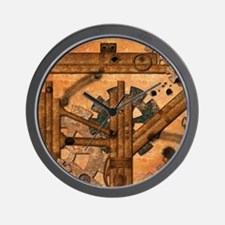 Rusty metal pipes Wall Clock