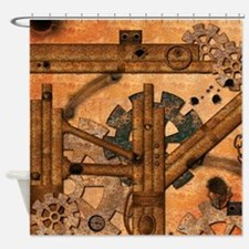 Rusty metal pipes Shower Curtain