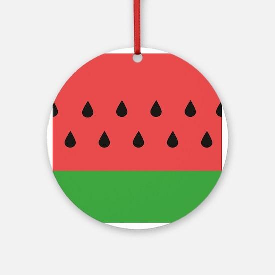 Watermelon Round Ornament