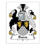 Bures Family Crest Small Poster