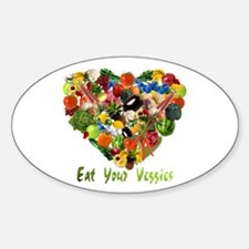 Eat Your Veggies Oval Decal