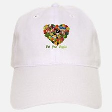 Eat Your Veggies Baseball Baseball Cap