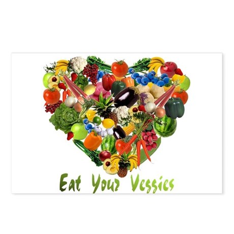Eat Your Veggies Postcards (Package of 8)