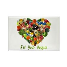 Eat Your Veggies Rectangle Magnet