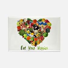 Eat Your Veggies Rectangle Magnet