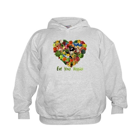 Eat Your Veggies Kids Hoodie