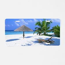 Tropical Beach Aluminum License Plate