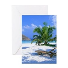 Tropical Beach Greeting Cards
