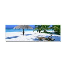Tropical Beach Car Magnet 10 x 3