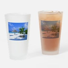Tropical Beach Drinking Glass