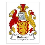 Bulmer Family Crest Small Poster
