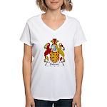 Bulmer Family Crest Women's V-Neck T-Shirt