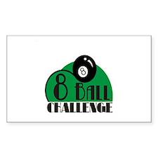 8 ball challenge Rectangle Decal