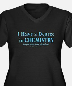 I HAVE A DEGREE Women's Plus Size V-Neck Dark T-Sh