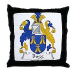 Bugg Family Crest Throw Pillow
