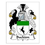 Buckton Family Crest Small Poster