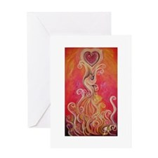 Phoenix greeting card with inspiring quote
