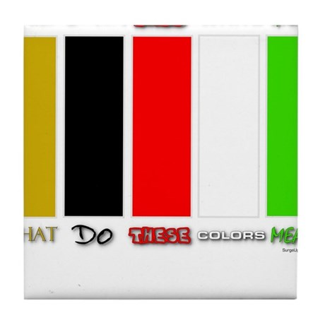 Wordless Book Colors Tile Coaster