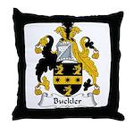 Buckler Family Crest Throw Pillow