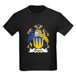 Bryan Family Crest Kids Dark T-Shirt