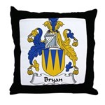 Bryan Family Crest Throw Pillow