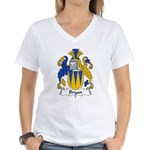 Bryan Family Crest Women's V-Neck T-Shirt