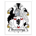 Brownrigg Family Crest Small Poster