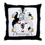 Brownrigg Family Crest Throw Pillow