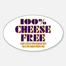 100% Cheese Free - MN Oval Decal
